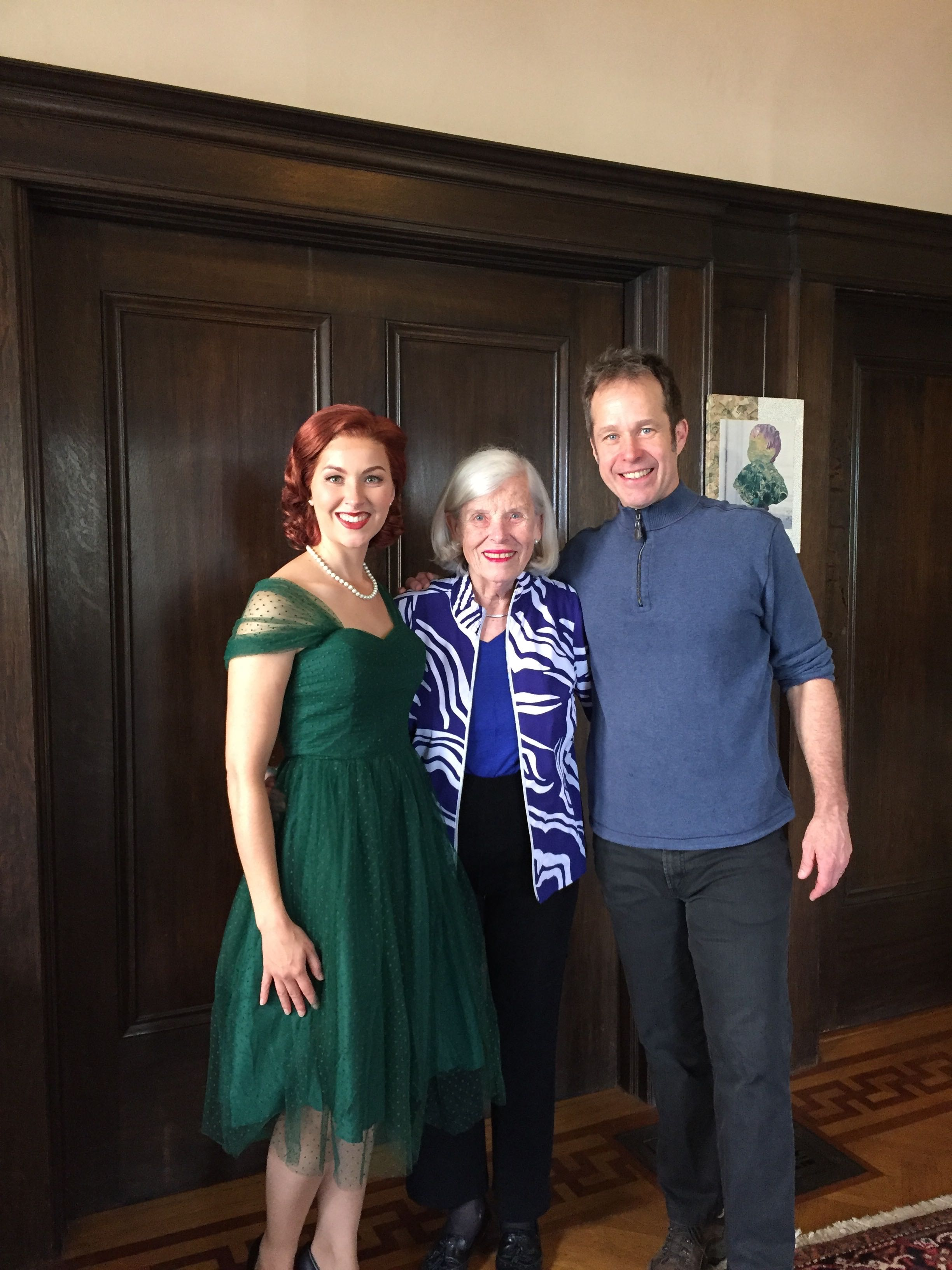Thank you to Betty Wallerstein for the very generous use of her house for the video shoot! Picture here with Rachel Schutz and Brian Staufenbiel