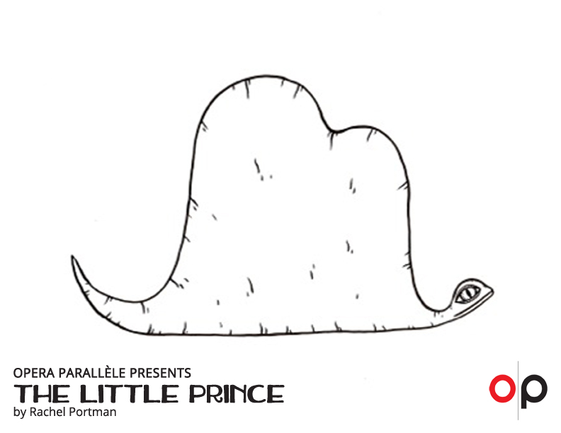 Little Prince Coloring Page - Snake