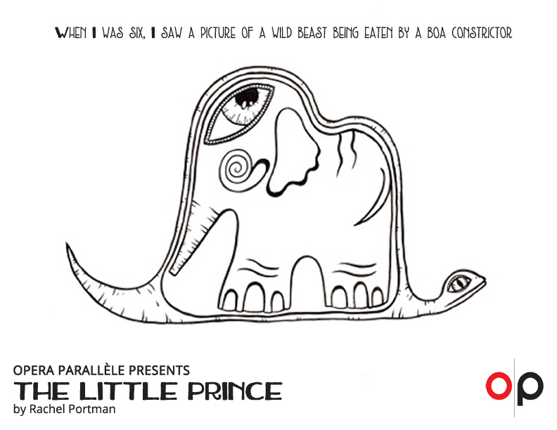 Little Prince Coloring Page - elephant