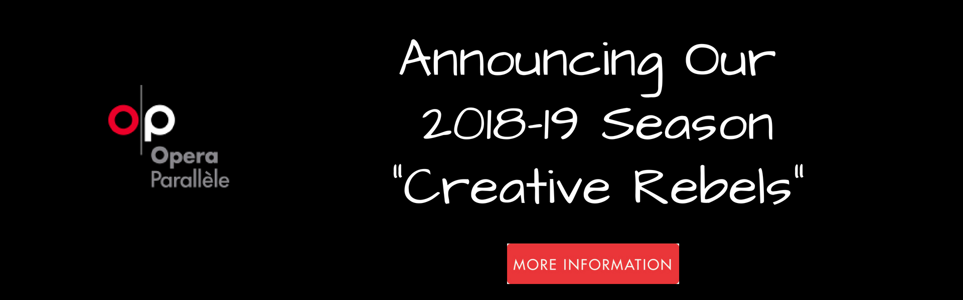 Announcing our 2018-19 season